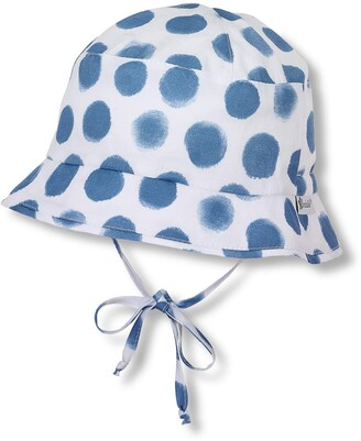 Sterntaler Fishing Hat with Dot Pattern and Bow Strings Age: 18-24 Months Size: 51 cm
