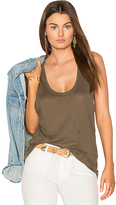 Black Orchid Distressed Tank in Olive. - size L (also in M,XS)