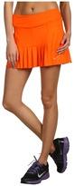 Nike Pleated Knit Skort (Electro Orange/Matte Silver) - Apparel