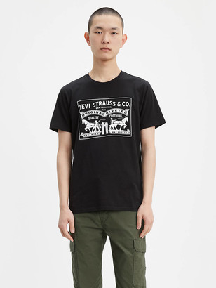 Levi's Two-Horse Pull Graphic Tee Shirt
