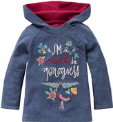 Oilily Blue 'Work in Progress' Tet Hoodie - Infant Toddler & Girls