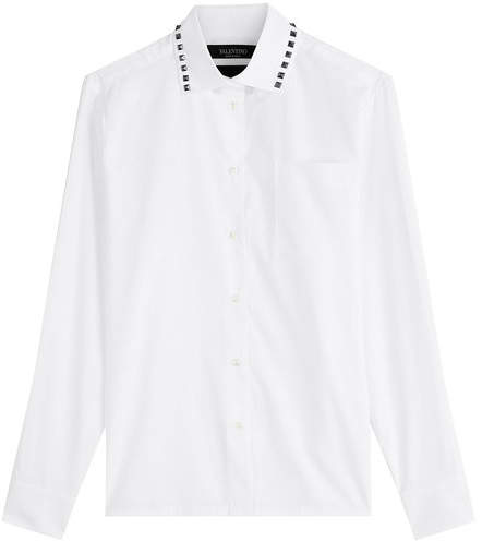 Valentino Cotton Shirt with Rockstuds