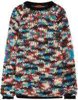 Missoni Oversized Open-knit Wool-blend Sweater - Blue