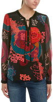 Hale Bob Embellished Neck Silk Tunic
