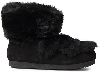Moon Boot Lace-up Suede And Faux Fur Snow Boots