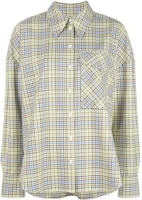 Tibi Checked Chest Pocket Shirt