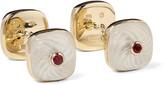 Trianon 18-Karat Gold Multi-Stone Cufflinks