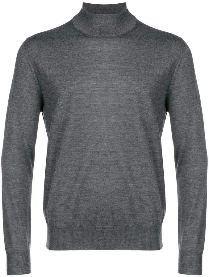 Canali fine knit turtleneck sweater