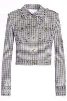 Sonia Rykiel Studded Checked Jacquard Jacket