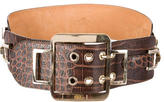 Etro Embossed Croc Leather Belt