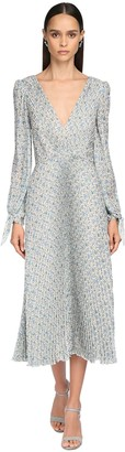 Luisa Beccaria Printed Crepe De Chine Midi Dress
