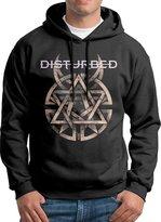 ENshirt Disturbed Warning Sign Men Long Sleeve Hoodie Sweatshirt