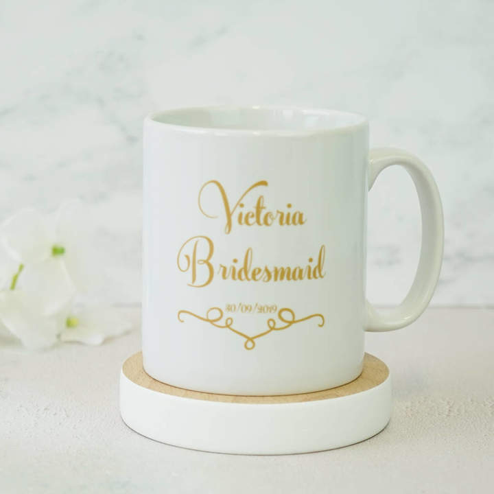 da0d1088f1a Sparks And Daughters Personalised Classic Wedding Bridesmaid Mug