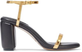 MM6 MAISON MARGIELA Metallic Faux Leather Sandals