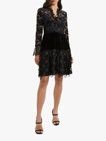 French Connection Cynthia Bodice Lace Dress, Black
