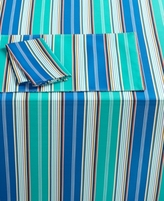 """Bardwil Messina Stripe Blue Collection 60"""" x 102"""" Oblong Tablecloth"""