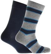 Barbour 2 Pack Hexham Socks Grey