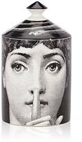 Fornasetti Silenzio Lidded Candle-BLACK, WHITE, NO COLOR