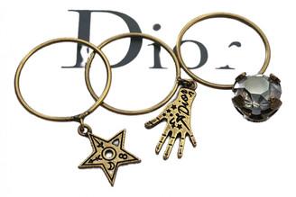 Christian Dior J'adior Brown Metal Rings