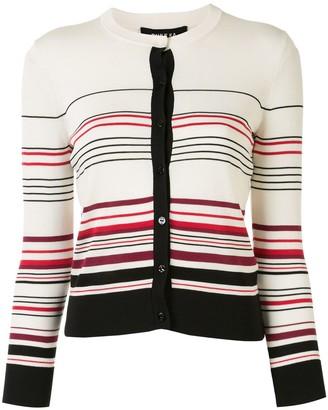 Paule Ka Long Sleeve Striped Knit Cardigan