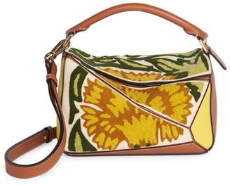 Loewe William De Morgan Mini Puzzle Floral Leather Bag