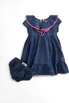 DKNY Infant's Contrast-Trim Denim Dress & Bloomer Set