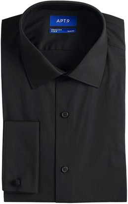 Apt. 9 Men's Premier Flex Collar Slim-Fit Stretch French Cuff Dress Shirt