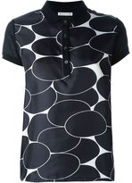 Moncler patterned polo shirt - women - Silk/Cotton/Polyamide - S