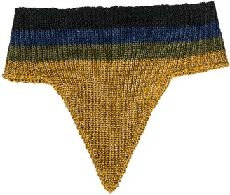 Marco De Vincenzo Buttoned Knitted Collar