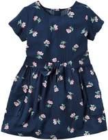 Carter's Toddler Girl Short Sleeve Floral Dress