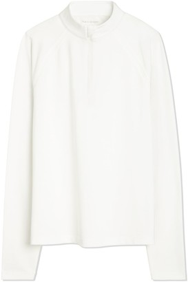 Tory Burch Tech Pique Quarter-Zip Pullover
