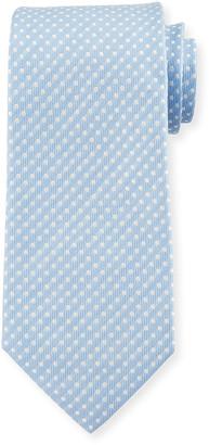 Isaia Men's Pindot Silk-Linen Tie