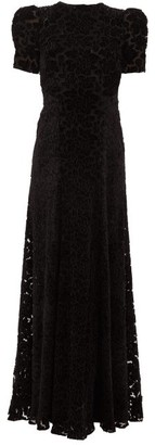 The Vampire's Wife The Night Sparrow Velvet-applique Tulle Gown - Womens - Black