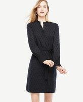 Ann Taylor Embroidered Cotton Shirt Dress