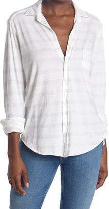 Frank And Eileen Striped Relaxed Fit Tunic Shirt