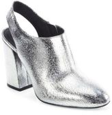 Michael Kors Clancy Metallic Leather Booties