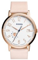 Fossil Women's 'Vintage Muse' Leather Strap Watch, 40Mm