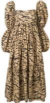 REJINA PYO Square Neck Tiger Stripe Gown