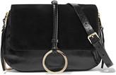 Halston Leather and suede shoulder bag
