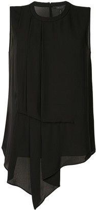 BCBGMAXAZRIA Pleated Drape Blouse