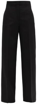 Jil Sander Nicholas High-rise Wool Wide-leg Trousers - Black
