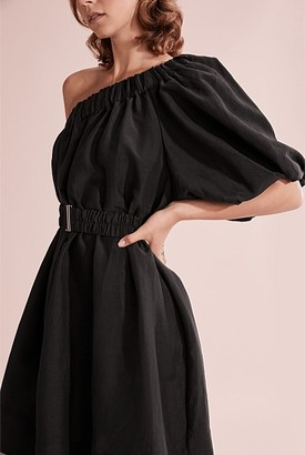Country Road One Shoulder Bubble Dress