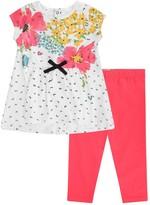Catimini Baby Girls Floral Dress & Pink Leggings Set