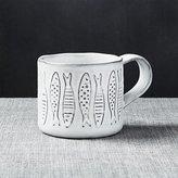 Crate & Barrel School White Mug