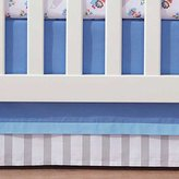 BreathableBaby Breathable Baby Blue Mist Stripe Crib Skirt by Breathable Baby