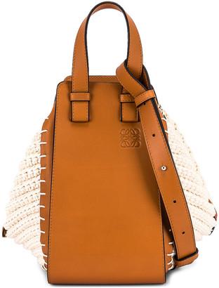 Loewe Hammock Knit Small Bag in Tan & Natural | FWRD
