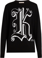 Christopher Kane Kane-intarsia knit wool sweater