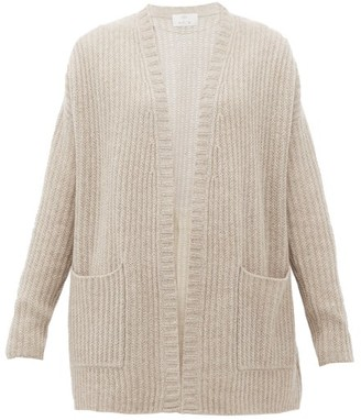 Allude Rib-knitted Cashmere Cardigan - Womens - Grey