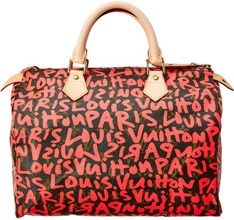 Louis Vuitton Stephen Sprouse Pink Graffiti Monogram Canvas Speedy 30