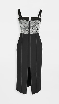 Dion Lee Lace Column Bustier Dress